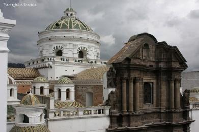 Cathédrale de Quito, depuis le toit de la mairie, Quito, Equateur