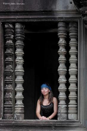 Touriste à Angkor Wat, Cambodge, Novembre 2012