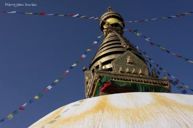 Stupa de Swayambhunath, Katmandou, Nepal, Mars 2012
