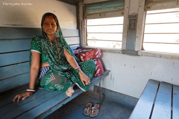 Dans le train, Rajasthan, Octobre 2017
