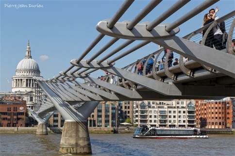 Millenium Bridge, Londres, 20 Avril 2018