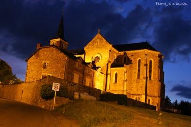 Eglise à l'heure bleue
